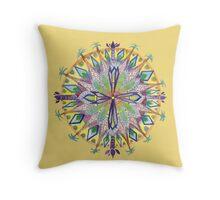 Palm Tree Mandala Throw Pillow