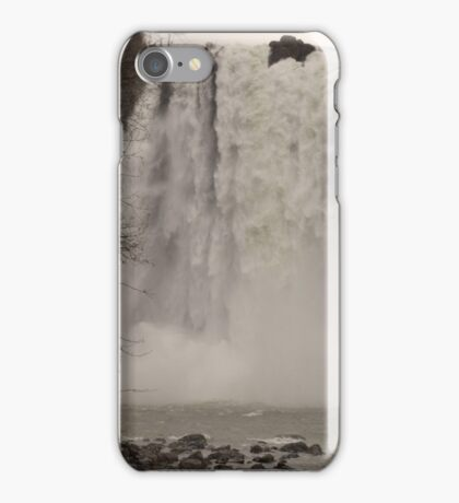 Snoqualmie Falls, January  iPhone Case/Skin