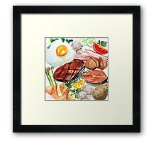 Painted Food Framed Print
