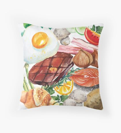 Painted Food Throw Pillow