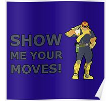 CAPTAIN FALCON | Super Smash Taunts | Show me your moves! Poster
