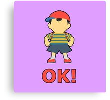 NESS | Super Smash Taunts | OK! Canvas Print