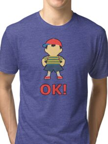NESS | Super Smash Taunts | OK! Tri-blend T-Shirt