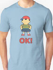 NESS   Super Smash Taunts   OK! Unisex T-Shirt