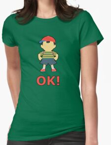 NESS | Super Smash Taunts | OK! Womens Fitted T-Shirt