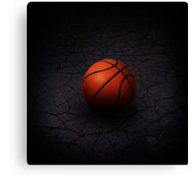 Lonely Basketball Canvas Print