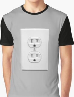 Wall Socket Practical Joke Graphic T-Shirt