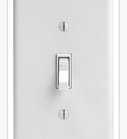light switch practical joke Sticker