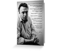 Christopher Hitchens - Quote from Letters to a Young Contrarian Greeting Card