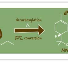 THC Chemical Mechanism  Sticker