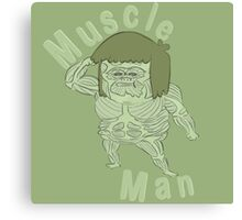 Ironic Muscle Man Canvas Print