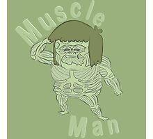Ironic Muscle Man Photographic Print