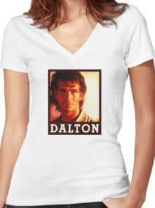 Dalton (Patrick Swayze) Roadhouse Movie Women's Fitted V-Neck T-Shirt