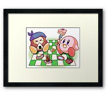 Kirby: Picnic Framed Print