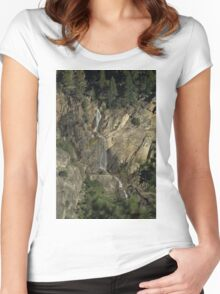 Yosemite Water Fall Women's Fitted Scoop T-Shirt