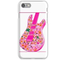 Guitar of Pink Flowers iPhone Case/Skin