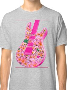 Guitar of Pink Flowers Classic T-Shirt