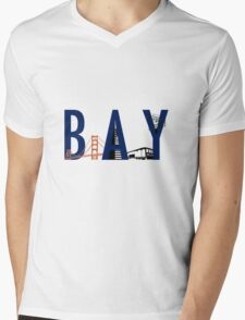 Bay Area Landmarks Mens V-Neck T-Shirt