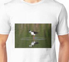 Black Necked Stilt Hunting for Food Unisex T-Shirt