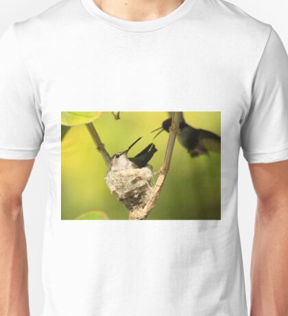 Male and Female Hummers Nesting Unisex T-Shirt