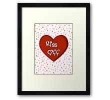 Candy Heart Kiss Off Framed Print