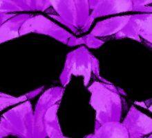 Skull of Purple Flowers Sticker