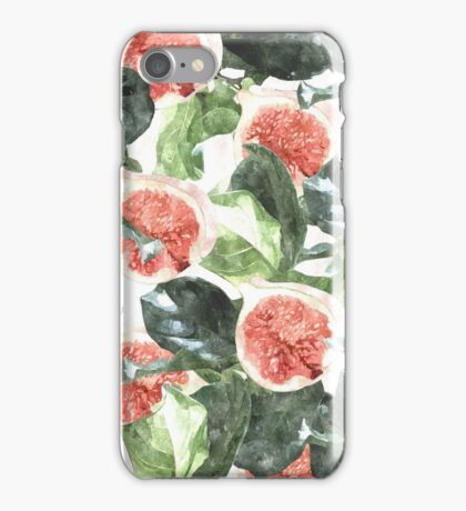Watercolor Figs & Leaves #redbubble #style #fashion #home iPhone Case/Skin
