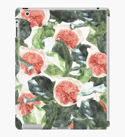 Watercolor Figs & Leaves #redbubble #style #fashion #home iPad Case/Skin