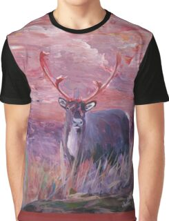 The Mighty Moose Mongoose Reindeer Elk Rentier Caribou Graphic T-Shirt