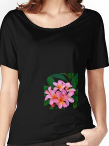 Pink Frangipani Flowers Photograph Women's Relaxed Fit T-Shirt