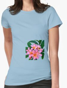 Pink Frangipani Flowers Photograph Womens Fitted T-Shirt