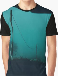 Foggy road photo design by LUCILLE Graphic T-Shirt