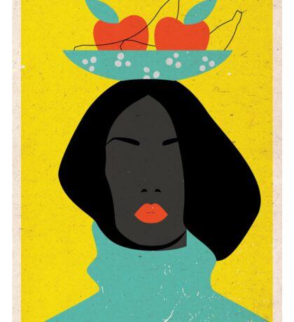 black woman in the Tutti-Frutti hat Sticker