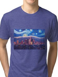 Starry Night in Los Angeles Tri-blend T-Shirt