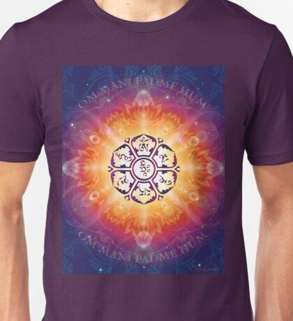"""Om Mani Padme Hum - Embodiment of Compassion"" Unisex T-Shirt"