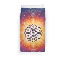 """Om Mani Padme Hum - Embodiment of Compassion"" Duvet Cover"