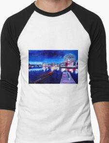 Vancouver skyline at night Men's Baseball ¾ T-Shirt