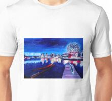 Vancouver skyline at night Unisex T-Shirt