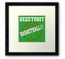 Deeetroit basketball Framed Print