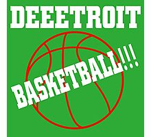 Deeetroit basketball Photographic Print