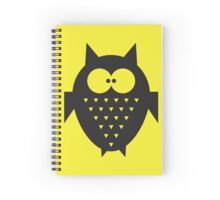 Cute fat geometric Owl Spiral Notebook