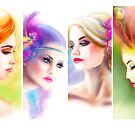 Beautiful Woman fairy face collage by Alena Lazareva