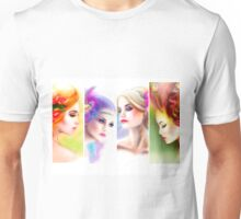 Beautiful Woman fairy face collage Unisex T-Shirt