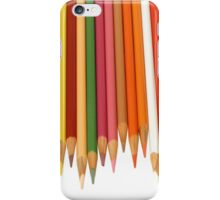 Coloured Pencils Isolated On White iPhone Case/Skin