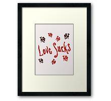 Love Sucks XO Framed Print