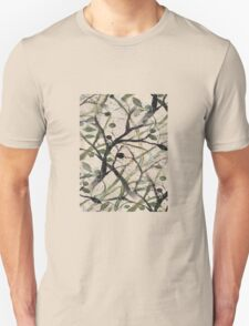 Black And Green Olive Tree Digital Abstract Unisex T-Shirt