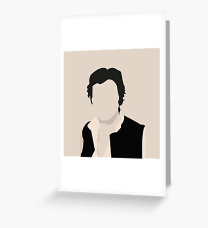 Silhouette Han Solo Greeting Card