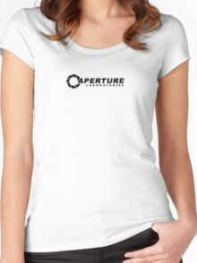 Aperture Science logo Women's Fitted Scoop T-Shirt