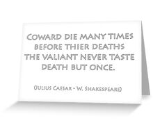 Julius Caesar Greeting Card