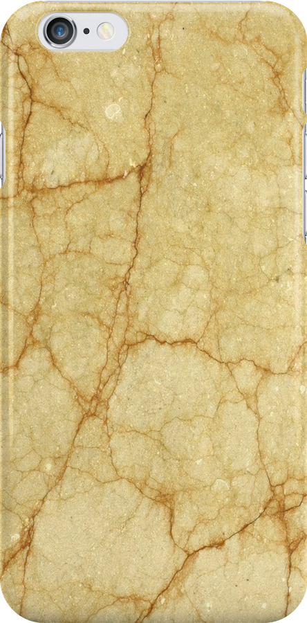 Yellow marble iphone case by mikath